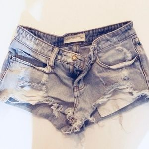 Distressed Low Rise Shorts